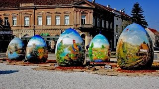 Artists in Croatian village create giant Easter eggs