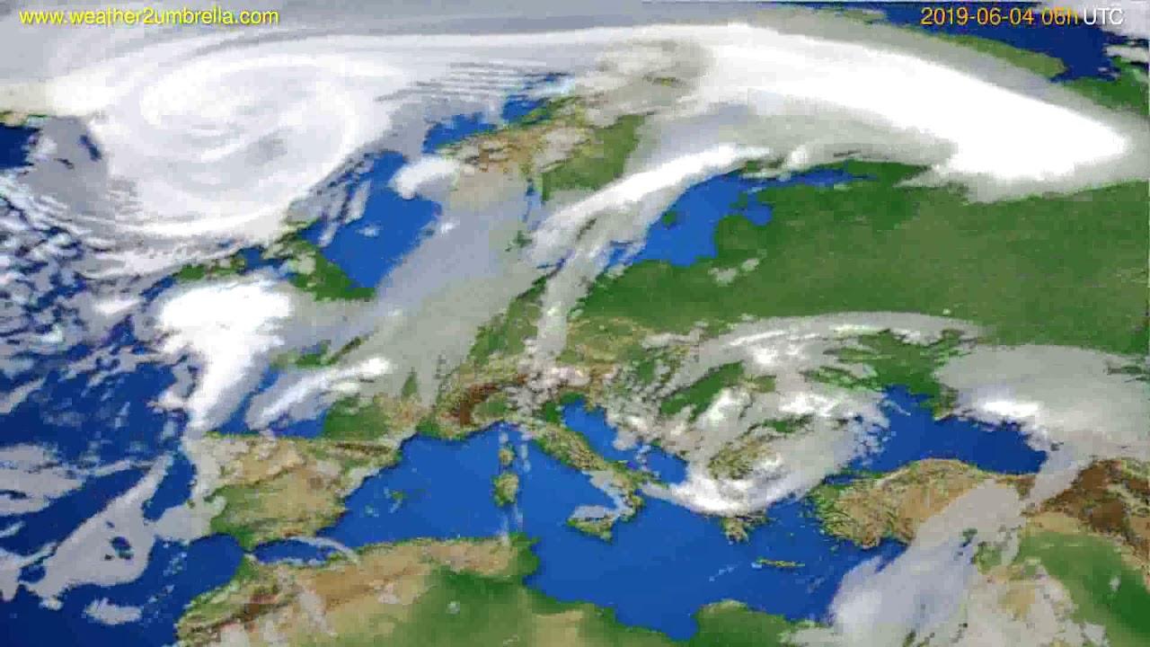 Cloud forecast Europe // modelrun: 12h UTC 2019-06-01