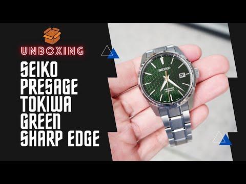 SEIKO PRESAGE SHARP EDGE AUTOMATIC SPB169J1 GREEN DIAL