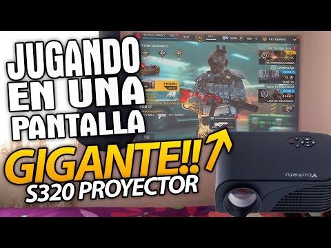 PANTALLA GIGANTE PROYECTOR S320 REVIEW EN ESPAÑOL