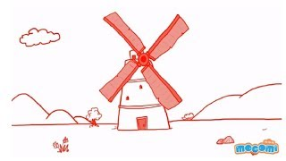 how to draw a windmill step by step guide learn drawing for kids
