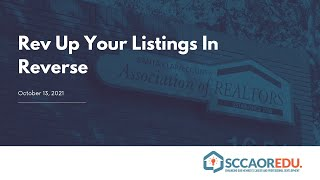 Rev Up Your Listings In Reverse – October 13, 2021