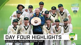 Nathan Lyon used all his skill and experience to pry five Pakistan wickets on day four to lead Australia to an innings and 48-run win in Adelaide and secure a 2-0 Domain Test Series victory