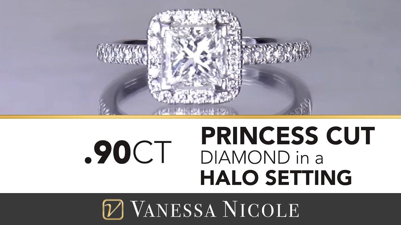 0.90ct Princess Cut Diamond Ring