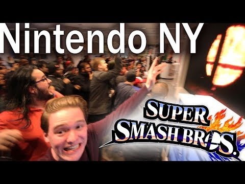 HUGE CROWD SMASH 5 REACTION @NINTENDO NY