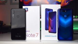 Confronto Xiaomi Redmi Note 7 vs Honor View 20