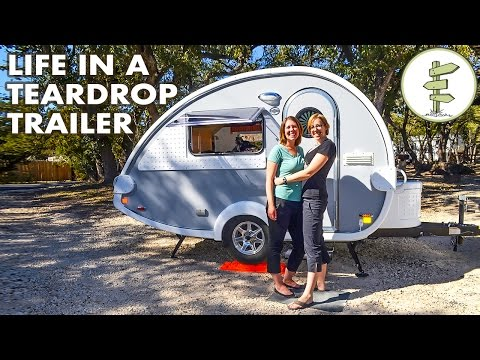 Couple Sells San Francisco House to Live in a Tiny Teardrop Camper Trailer
