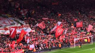 Liverpool Fans Sing 'You'll Never Walk Alone' Vs Newcastle United