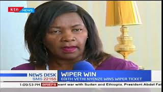 Wiper nominee for Kitui West paliamentary seat Vethi Nyenze speaks following her win
