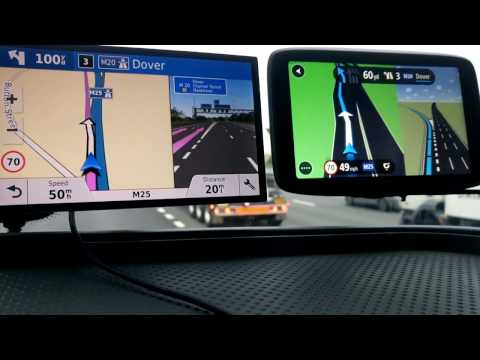2018 Garmin Drivesmart 61 vs Tomtom GO 6200 on Motorway.