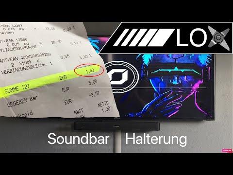 Soundbar Halterung selber bauen unter 1.50€ !!!