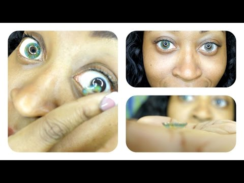 How To Put On  Color Contacts Lenses For BEGINNERS (Step by Step HD Video) ☆