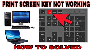 Print screen key not working || Print Screen Problem in Laptop