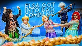Elsa got into bad company! Disney Princess School in real life!