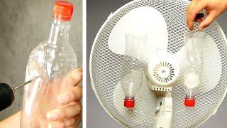 Klemm 2 Plastikflaschen an den Ventilator! 20 erstaunliche Tricks, die Dir diesen Sommer erleichtern