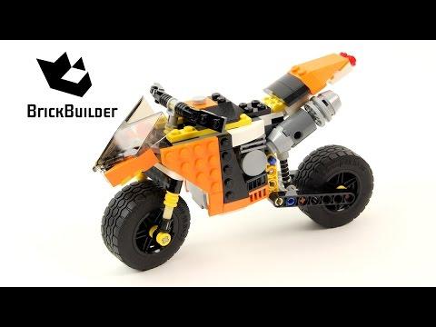 Vidéo LEGO Creator 31059 : La moto orange