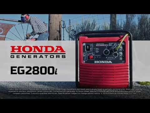 Honda Power Equipment EG2800i with CO-MINDER in Greeneville, Tennessee - Video 1