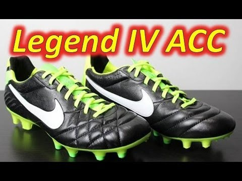 Nike Tiempo Legend IV ACC Black/Electric Green/White - Unboxing + On Feet