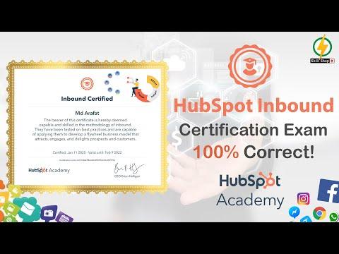 Inbound Certified Exam Answers 2020 | HubSpot | Skillshop ...