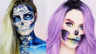 ✨13 MIN OF SKULL HALLOWEEN MAKEUP | Best Makeup Tutorials 2018 | Woah Beauty