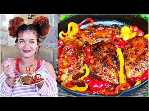 Honey Lemon Chicken and Peppers Recipe - Easy Chicken Recipe