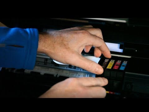 How to change ink cartridge on Epson printer xp 235