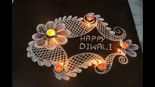 Happy Diwali to all my viewers by easy rangoli Suneetha || deepavali kolam