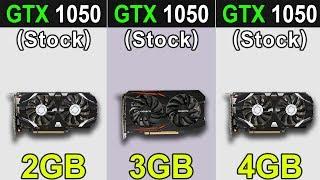 GTX 1050 (2GB) VS. GTX 1050 (3GB) VS. GTX 1050 Ti (4GB) | New Games Benchmarks
