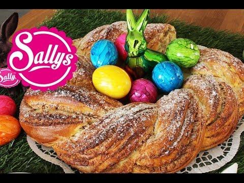Osterkranz / Frühjahrskranz mit Marzipan-Mandel-Füllung