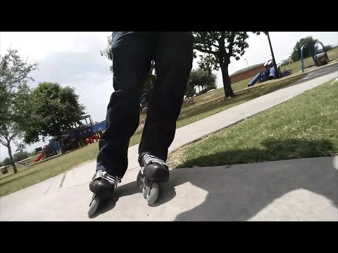 #87 Testing out my Bauer Vapor inline skates at Jackson Memorial park. (Narrated)