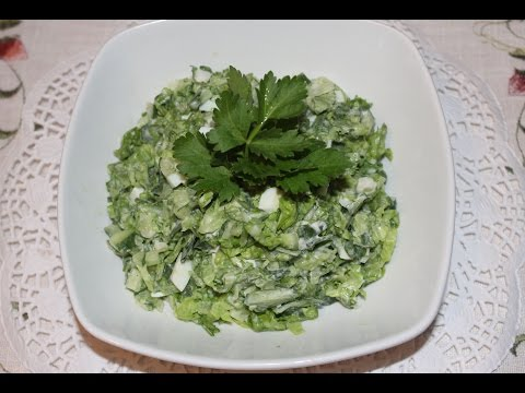 Салат с листьев салата (латук)