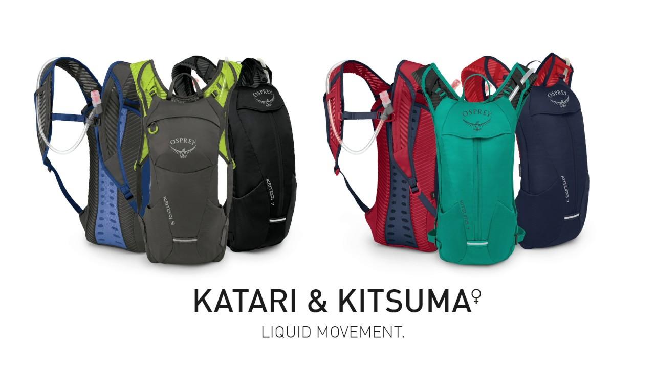 Видео рюкзаки Osprey Katari и Kitsuma