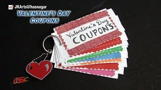 DIY Love Coupon Book | Valentines Day Gift Idea | JK Arts  857