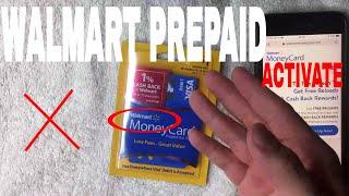 ✅  How To Activate Walmart Money Card Prepaid Debit Card 🔴