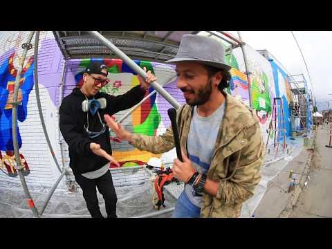 El arte urbano invadio a Bogota con la cuarta edicion del festival Distrito Grafiti