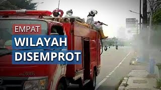Empat Wilayah di Jakarta Pusat Disemprot Disinfektan oleh Suku Dinas Gulkarmat Jakpus