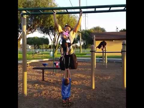 Dad Does Kid-Weighted Pull-Ups
