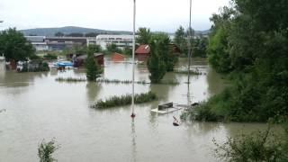 preview picture of video 'Hochwasser in Korneuburg - Flood in Korneuburg - Austria'