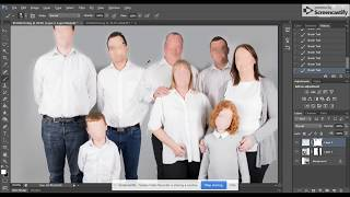 Photoshop Tutorial - Editing Two Photos Together (large Family Shoot)