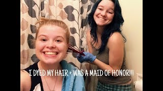 I DYED MY HAIR + WAS IN A WEDDING || WEEKLY VLOG #1 (PART 2) | Alyssa Michelle - Video Youtube