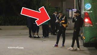 شاهد كواليس مغادرة لاعبي الرجاء لمركب محمد الخامس بعد الهزيمة أمام الزمالك