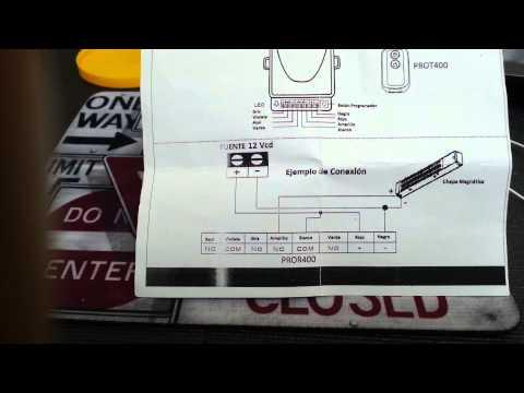 Conexión de Cerradura Magnética y Cerradura eléctrica