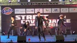 130728 [R1] SQ5 cover 2PM - Beautiful + I'm Your Man + Hands Up @Street Cover Dance Contest 2013