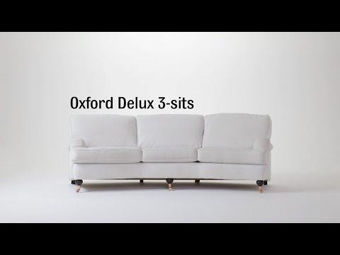 Produktbild - Oxford Delux, 3-sits soffa svängd med avtagbar klädsel