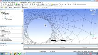 Flow over a cylinder with Transition SST model in ANSYS Fluent (Karman Vortex) / Дорожка Кармана