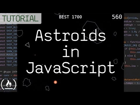 Code Asteroids in JavaScript (1979 Atari game) – tutorial