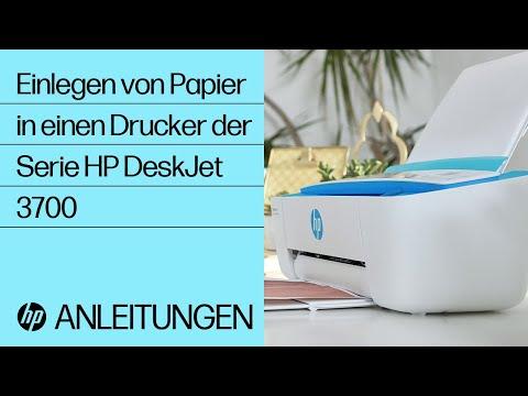 Einlegen von Papier in einen Drucker der Serie HP DeskJet 3700