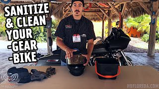How to PROPERLY Clean and Sanitize your Motorcycle and Riding Gear