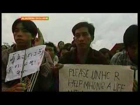 Hmong protest being forced back to Laos -23 June 08