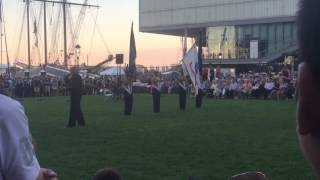 Armed Services Tribute hymns Sail Boston 2017 Closing ceremony